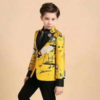 casaco de meninos venda por atacado-Menino moda terno bonito de duas peças terno (jaqueta + calça) menino prom vestido de festa de casamento vestido de flores vestido personalizado