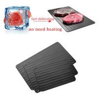 bandeja s al por mayor-Nueva bandeja de descongelación de placas de metal mágico, seguro, descongelación rápida, carne congelada, descongelación, herramienta de cocina, tamaño S-L