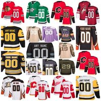 armee grüne matte großhandel-Neuer Lieferant Goalie Cut 30-Teams alle Maßgeschneiderte Montreal Canadiens Vegas Golden Knights Home Away Any Name NO. eigenes Design Trikots