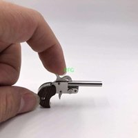 Wholesale mini toys gun - XYTHOS Single pinfire Delinger Pistol mini guns key chain 2mm Pinfire Miniature Cute Model Only cool pocket toy