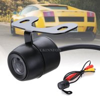 Wholesale DHL Waterproof CCD Car Rear View Backup Reverse Parking Camera IR Night Vision Color Black