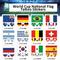 Wholesale fifa for sale - 2018 FIFA World Cup Tattoo Sticker Football Race National Flag Banners Russia Football Match Soccer Fans Face Sticker Tattoo Wrist Body Stic