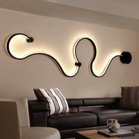 lamba askıları toptan satış-Yenilik Yüzey Monte Modern Led Tavan Işıkları Oturma Odası Yatak Odası Başucu Fikstür Kapalı Ev Dekoratif LED Duvar Lambaları Için