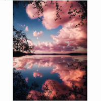 Wholesale scenery decor for sale - Group buy Water Cloud Scenery D DIY Mosaic Needlework Diamond Painting Embroidery Cross Stitch Craft Kit Wall Home Hanging Decor