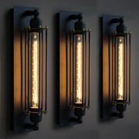 Wholesale lantern wall sconces resale online - Loft Vintage Wall Lamps American Industrial Wall Light Edison T30 E27 Bed lighting Eye lantern Wall Sconce Lights Home Decoration Lighting