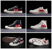 ingrosso scarpe da calcio classiche-2019 Scarpe New All Stars CDG Canvas Occhi grandi Hearts 1970s Beige Black white designer Classic 1970 running running Skate Sneakers 35-44