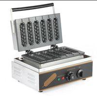 Wholesale waffle dog maker - Free shipping with CE 110v 220v Lolly Waffle maker 6 pcs stick Hot Dog Maker