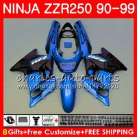 Wholesale new fairings kawasaki ninja online - Fairing Light For KAWASAKI NINJA Blue black NEW ZZR250 ZZR HM ZZR Bodywork kit