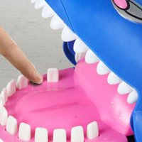 Wholesale Funny Teeth Jokes - Free Shipping Novelty Large Luminous Shark Biting the Finger Toy for Children Gift,Funny Animal Teeth Joke Toys for Kid