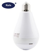 Wholesale wifi camera light for sale - N_eye IP Camera P2 p HD Degree Panoramic Home Indoor Wifi Camera Professional Smart Security Led Light Bulb With