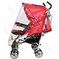 Wholesale rain accessories resale online - F85 Universal Waterproof Rain Cover Wind Shield Fit Most Strollers Pushchairs Buggys