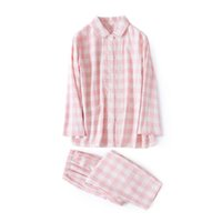 60da511d0f Autumn Winter 100% Brushed Cotton Pajamas Sets Women Napping Pijama  Feminino Couple Sexy Plaid Men Sleepwear Pyjama Femme