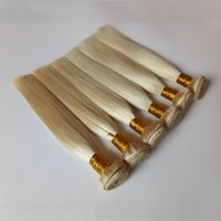 Wholesale peruvian human hair china resale online - China Factory BrazilianHuman Virgin Hair Weft Blonde color Top Quality Human remy hair extensions Mechanism of double weft