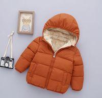 ingrosso giacche a spazzola-Nuovi Bambini Giù Cappotto Inverno Caldo spazzolato Neonati Abbigliamento Ragazzi Outwear Bambini Giacche giubbotti per bambini