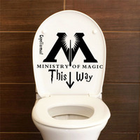 Wholesale quotes bathroom - Harry Potter Ministry Of Magic This Way Bathroom Toilet Seat Vinyl Wall Sticker Home Decor Decal DIY Funny Joke Quotes Art