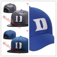 Wholesale devil knitted cap - NCAA Duke Blue Devils Snapback Caps Black red grey Royal Duke Blue Devils Knit Hat beanies Caps one size fit all