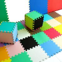 tapis de jeu de puzzle achat en gros de-Puzzle Mats Exercice Nouvelle Marque Marjinaa Plus Tapis 10 Sqft Noirs Mousse Tapis Exercice Gym Puzzle Carreaux Doux Plancher Enfants Salle de Jeu