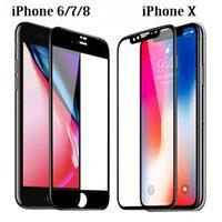 защитная пленка для очков оптовых-Закаленное стекло 3D 9H Телефон с полным покрытием Взрывозащищенный ЖК-экран Защитная пленка для iPhone XS Max MR X 8 7 6 6s Plus