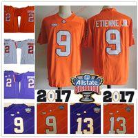 Wholesale Kelly Manning - Clemson Tigers #2 Kelly Bryant 9 Travis Etienne Jr. 13 Hunter Renfrow Purple White Orange Stitched NCAA Championship 2018 Sugar Bowl Jerseys