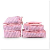 colección de ropa al por mayor-Wobag organizador bolsa de equipaje bolsa 6 UNIDS colección paquete impermeable cubo de ropa portátil bolsa de clasificación de embalaje de viaje