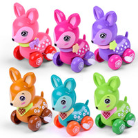 Wholesale small plastic chain resale online - New Pattern Originality Children Wind Up Toy Baby Puzzle Color Chain Remontoir Toys Cartoon Small Animal bj W