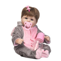 Wholesale Realistic Soft Toys - Cosplay Elephant Reborn baby Dolls DIY Toys 16 inch Realistic Silicone Babies Doll Touch Soft Cartoon bebe Bonecas hot Sale NPK