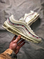 Wholesale Women For Sail - Air 97 OG UNDFTD UNDEFEATED Sail Speed Red-White Black Speed Red-Gorge Green Running Shoes For Men Women Authentic Sneakers With Box 5-11