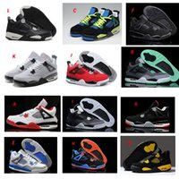 Wholesale Fire Training - High Quality Retro 4 Mens Women Basketball Shoes White Cement Black Cat Fire Red Glow Fear Pack Pure Mars Thunder Outdoor Training Sneakers