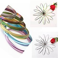 Wholesale outdoor spinners - Colorful Rainbow Magic Flow Ring Metal Amazing Toys Kinetic Spring Toy Funny Outdoor Game Intelligent Toy Fidget Spinner 120pcs OOA4772