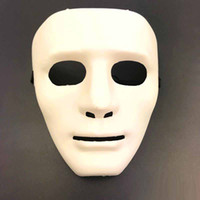 ingrosso maschera di protezione completa-Jabbawockeez Full Face Mask Masquerade mask Halloween Hiphop Plain Maschere di plastica Danze Eseguire Maschera per gli uomini