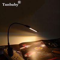 usb lâmpadas banco de energia venda por atacado-Tanbaby 8 LED 5252 SMD USB CONDUZIU a Lâmpada de Luz Mini Lâmpada Noturna USB Portátil Lâmpada de Luz de Leitura Para Nota Laptop Power Bank