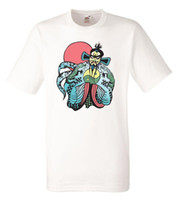 ingrosso cotone bianco t-shirt-Big Trouble In Little China Fu Manchu White Herren Maglietta Rock Band Tee Shirt