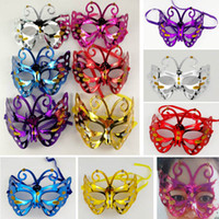 макияж выпускного вечера оптовых-Halloween Mask Costume Cosplay Masquerade Butterfly Half Face Masks For Adults Party Makeup Prom Dance Christmas Bauta Mask HH7-1499