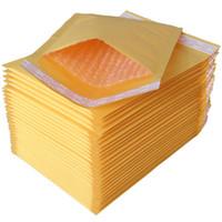poly-blasenumschläge großhandel-18 * 23cm 50Pcs Kraft Paper Schaum Füllen Umschlag Polywerbung Kraft Papier Blase Verpackung Umschlag Mail Bag Thick Bag Leicht