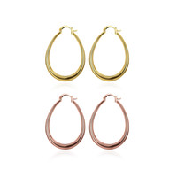 Wholesale low price gold earrings - Wholesale Low Price 18K Gold Plated & Rose Gold Plated Hoop Earrings Women Fashion Party Jewelry Top Quality Free Shipping