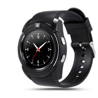 Wholesale Red Hot Hd - Hot V8 Smart Watch Bluetooth SmartWatch With 0.3M Camera SIM IPS HD Full Circle Display Smart Watch For Android System With Box