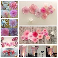Wholesale suppliers birthday party decorations for sale - Group buy Graduation Set Pink Theme Party Supplier Paper Fan Hanging Decorations Paper Rosettes Backdrop Birthday Bridal Showers Weddings Decor
