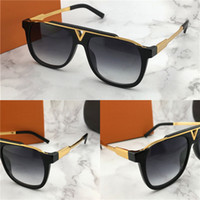 Wholesale square sunglasses - The latest selling popular fashion men designer sunglasses square plate metal combination frame top quality anti UV400 lens with box