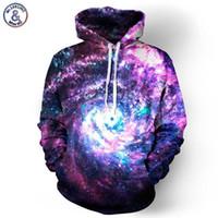 Wholesale Paisley Hoodie - Hip Hop Space Galaxy Hoodies Men Women Sweatshirt Hooded 3d Brand Clothing Cap Hoody Print Paisley Nebula Jacket
