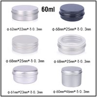 Wholesale cosmetic tin cans wholesale - New 60ml Empty Aluminum Cream Jars Tins Cosmetic Lip Balm Containers Nail Derocation Cans Crafts Storage Pots Bottles