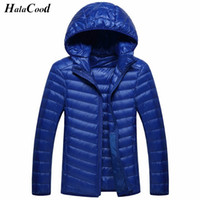 Wholesale Mens Winter Down Coats Sale - Hot Sale Winter Men Down Coats Thin Jacket Brand High Quality Candy Color Warmth Mens Jackets And Coats Thin Parka Men Outwear