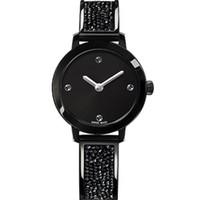 quartz plein de diamant achat en gros de-2019 Hot Item Femme Regarder Diamants Décontractés Designer Or Montre Mode Luxe Femme Horloge Montre À Quartz Relojes De Marca Mujer