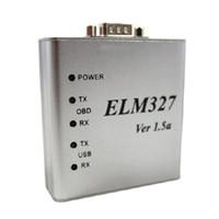 interfaz elm327 v1.5 al por mayor-10 unids Altamente recomendado ELM327 Metal Aluminio OBD2 Herramienta de Diagnóstico Automático ELM 327 USB Interfaz de Metal Lector de Código Escáner V1.5 / V1.5a