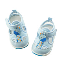giraffe fabrics Canada - Unisex Baby Soft Sandals 2018 New Toddlers Girls Summer Cute Giraffe Shoes Infants Boys Closed Toe Sandalias k Sandalet