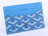 Wholesale card holder online - Top quality Paris style luxury designer classic famous men women famous genuine leather gy credit card holder mini wallet
