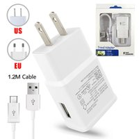 Wholesale cable adapter eu online - Wall Charger Adapter Fast Charging Travel Wall Charger M Micro USB Data Cable for Samsung Galaxy S6 Edge Plus with Retail Package