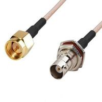 женский коаксиальный кабель оптовых-Мужчина сборки SMA кабеля RF коаксиальный задобренный к коаксиальному кабелю перегородки RG316 BNC женскому