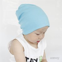 Wholesale infant hats online - INS Baby Cotton Hats Girls Boys Warm Caps  Brief style Beanies 253f915825d
