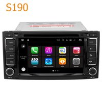 Wholesale android car gps vw - Road Top S190 Android 7.1 System Quad Core CPU 2 Din Car Radio DVD Player GPS Navigation Head Unit Car Computer PC for VW Touareg 2002- 2010