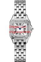 relógios de vestido branco venda por atacado-Top Quality Pulseira de Diamantes relógios de luxo Elegante vestido de senhora relógios de Pulso marca relógio branco de discagem de quartzo relógios de Jóias Mulheres relógio de Presente